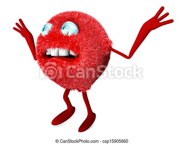Scary Cartoon Character - csp15905660