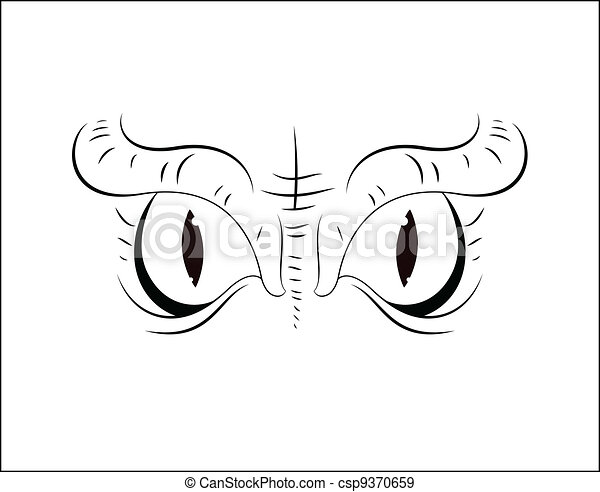 Scary Cartoon Eyes - csp9370659