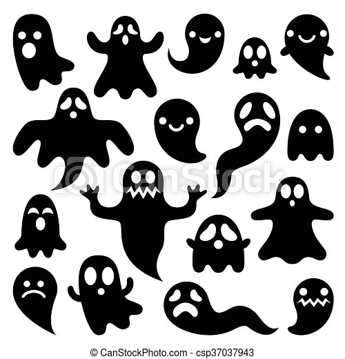 Scary ghosts design halloween char vector icons set for halloween scary ghosts design halloween char csp37037943 publicscrutiny Images