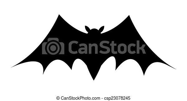 scary halloween bat shape csp23078245 - Halloween Bat Pics