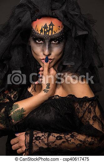 Halloween Bride.Scary Halloween Bride