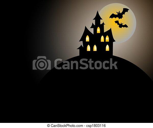 Scary Halloween House - csp1803116
