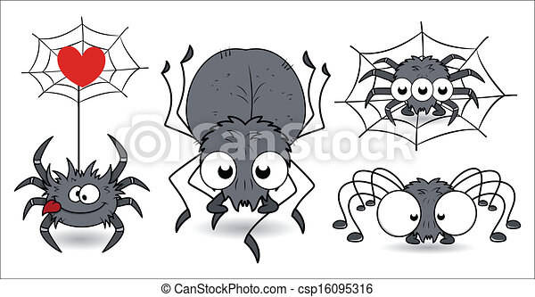 Scary Halloween Spiders - csp16095316