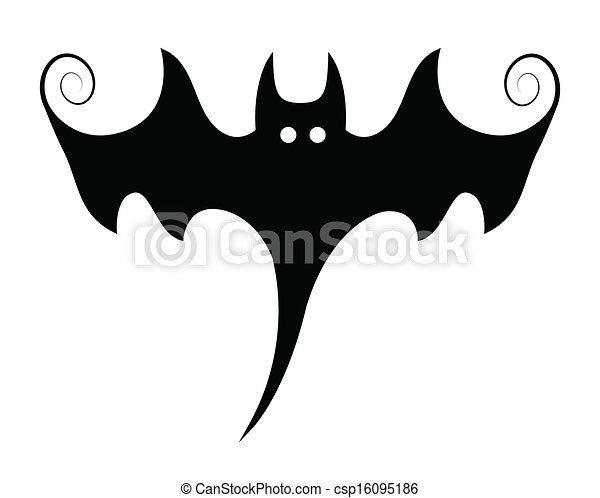 Scary Halloween Vampire Bat Shape Drawing Art Of Stylish Bat