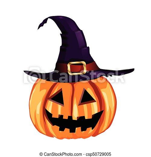 Halloween Pumpkin Vector.Scary Jack O Lantern Halloween Pumpkin