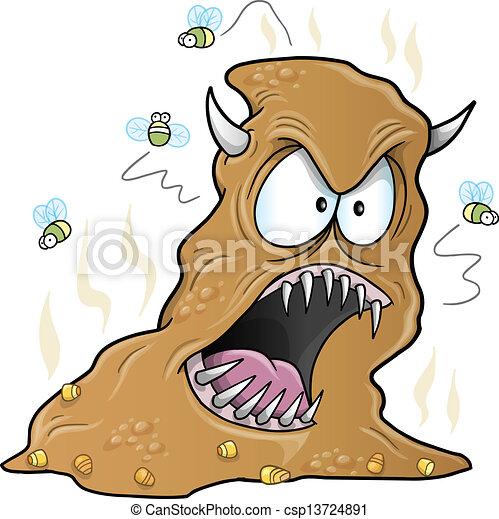 Scary Monster Turd Poop Vector - csp13724891