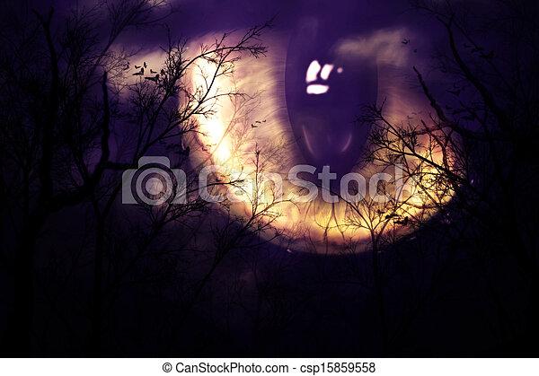 Scary monster's eye - csp15859558