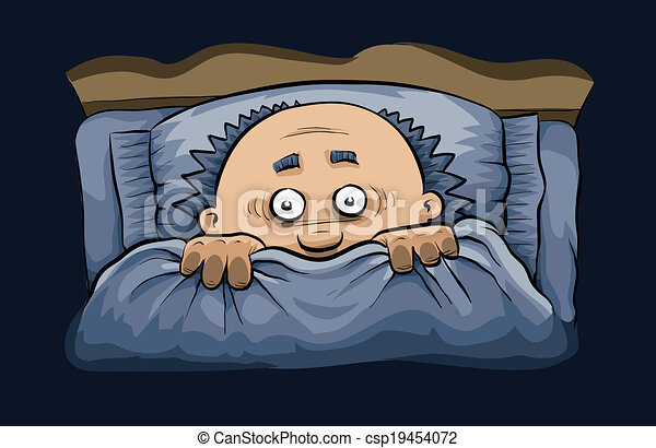 Image result for cartoon of man under bed