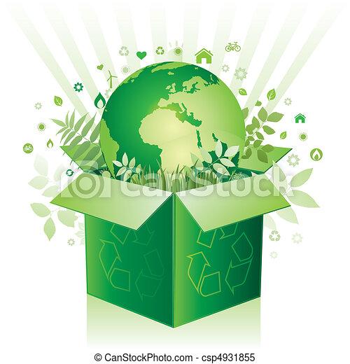 scatola, ambiente, vettore, segno - csp4931855