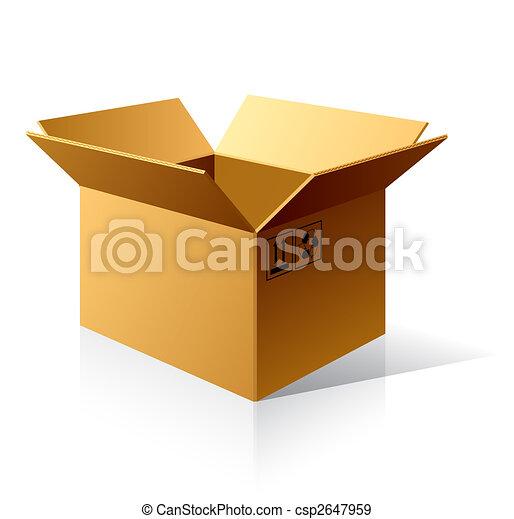 scatola, cartone, vuoto - csp2647959