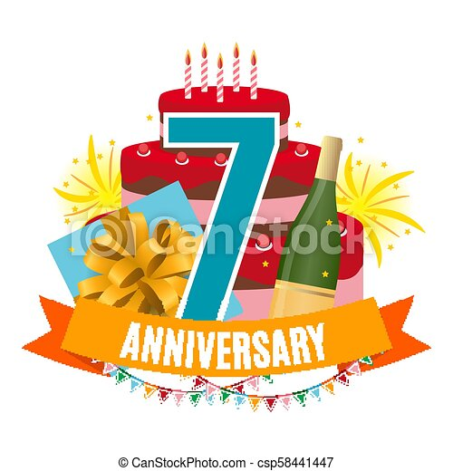 Auguri Anniversario Matrimonio 7 Anni.Scatola Congratulazioni 7 Regalo Fireworks Anniversario