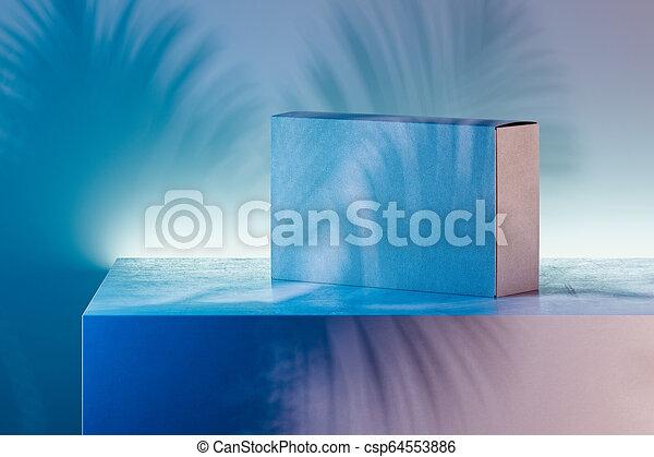scatola, fondo., rendering., multicolore, realistico, bianco, cartone, 3d - csp64553886