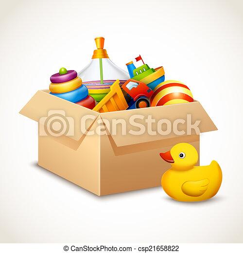 scatola, giocattoli - csp21658822