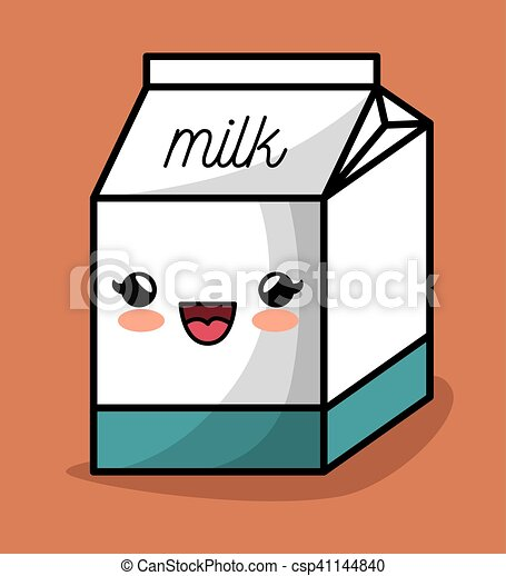Scatola kawaii disegno felice latte icona scatola for Immagini disegni kawaii
