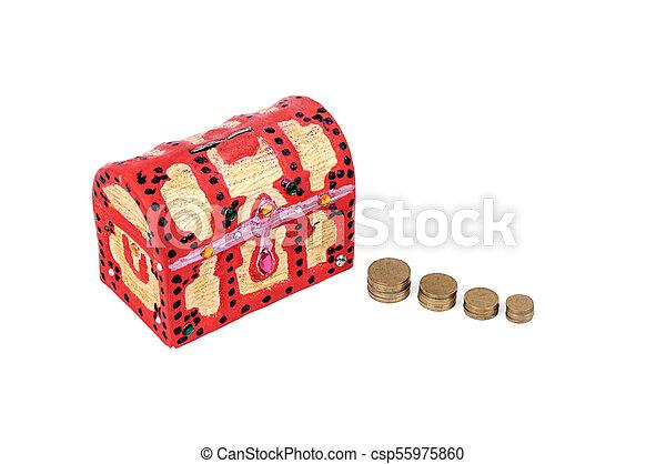 scatola, moneta - csp55975860