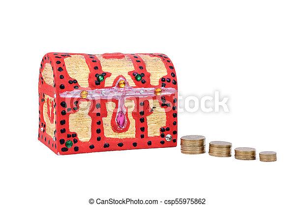 scatola, moneta - csp55975862