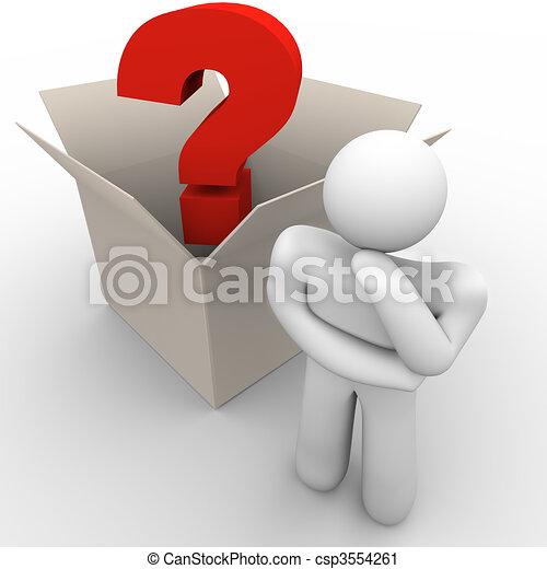 scatola, pensare, esterno - csp3554261