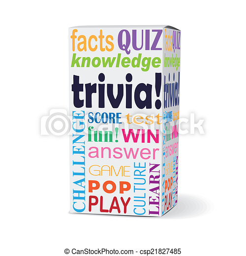scatola, prodotto, trivia, parola - csp21827485