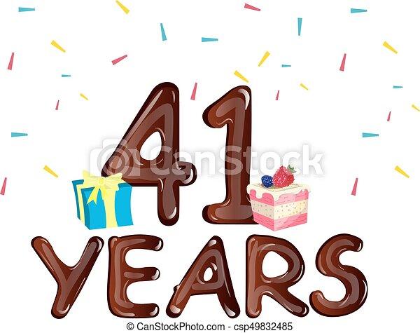 Anniversario Matrimonio 41 Anni.Scatola Regalo Anniversario 41 Torta Anni Celebrazione