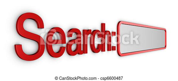 scatola, ricerca, computer - csp6600487