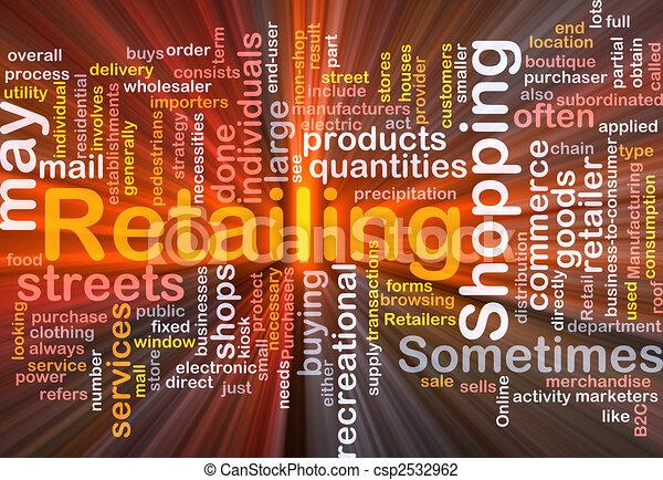 scatola, vendita dettaglio, parola, nuvola, pacchetto - csp2532962