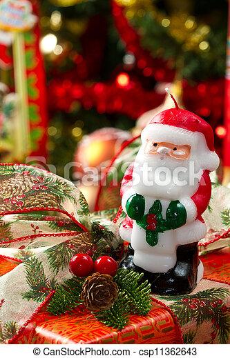 scatole, albero, regalo natale - csp11362643