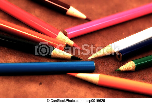 Scattered Pencils - csp0015626