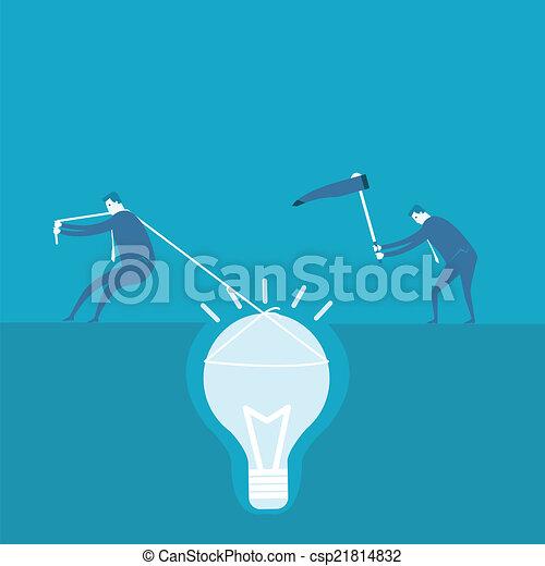 scavare, concetto, idea, uomo affari - csp21814832
