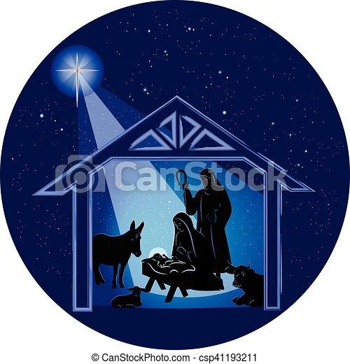 Immagini Nativita Natale.Scena Nativita Natale Notte