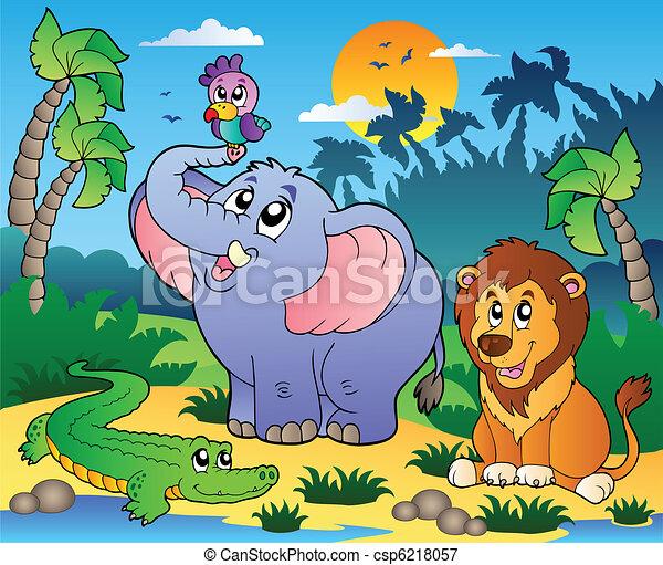 scenario, animali, 4, africano - csp6218057