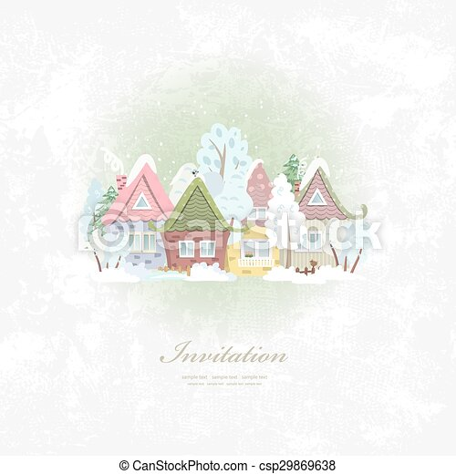 scenario, inverno, vendemmia, invito, rurale, scheda - csp29869638