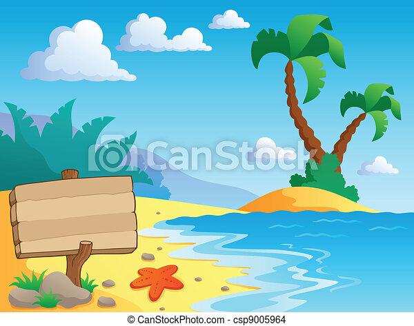 scenario, tema, 2, spiaggia - csp9005964