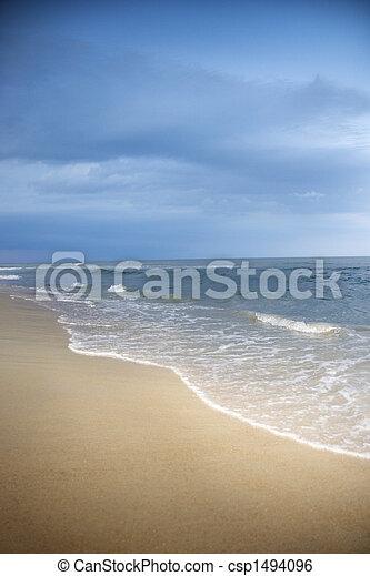 Atlantic Beach Szene. - csp1494096