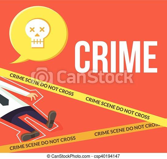 Escena del crimen. No cruces - csp40194147
