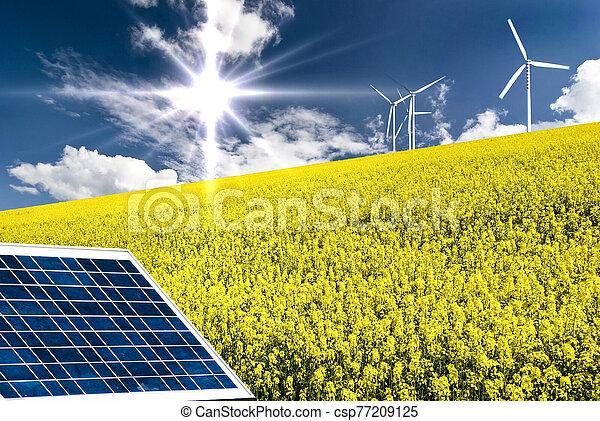 scene of nature and alternative energies - csp77209125