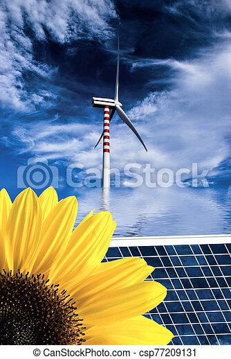 scene of nature and alternative energies - csp77209131