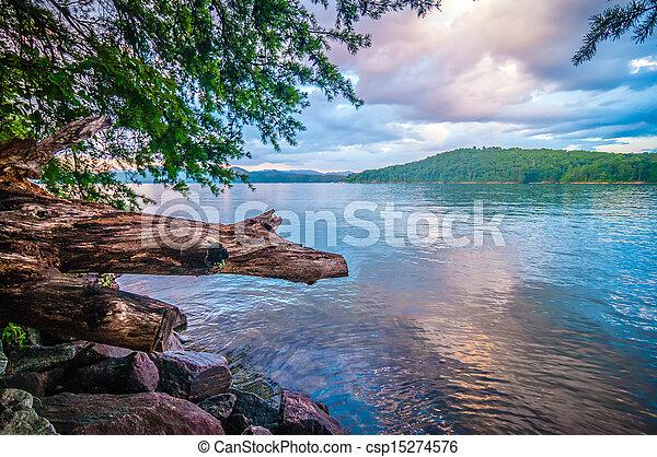 scenery around lake jocasse gorge - csp15274576