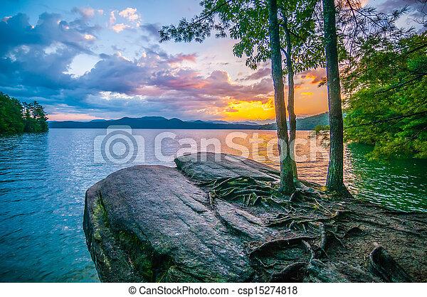 scenery around lake jocasse gorge - csp15274818