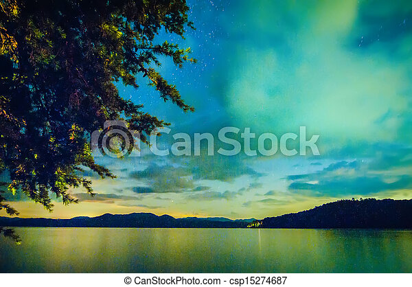 scenery around lake jocasse gorge - csp15274687