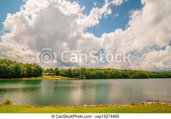 scenery around lake jocasse gorge - csp15274465