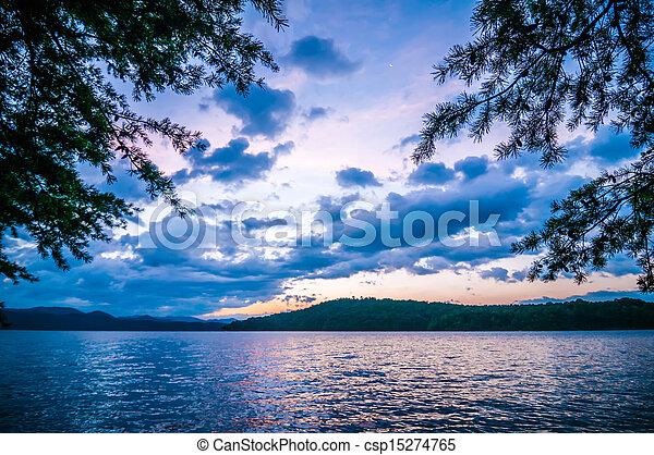 scenery around lake jocasse gorge - csp15274765