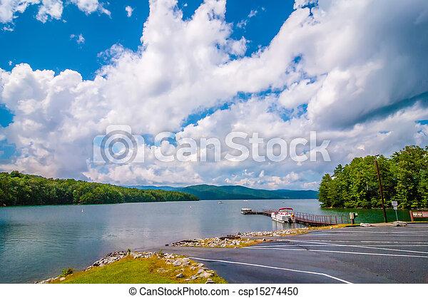 scenery around lake jocasse gorge - csp15274450