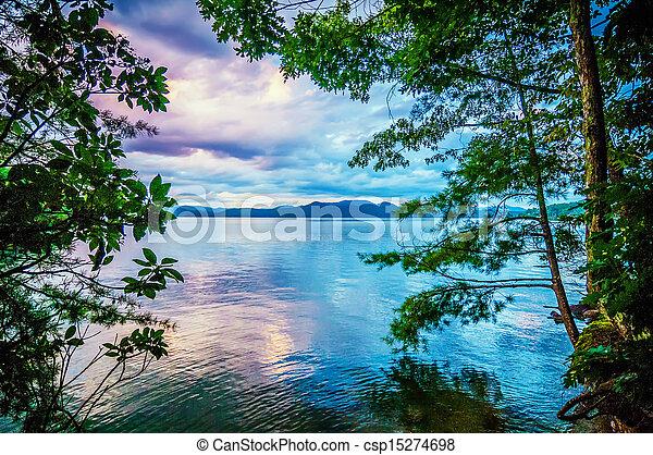 scenery around lake jocasse gorge - csp15274698