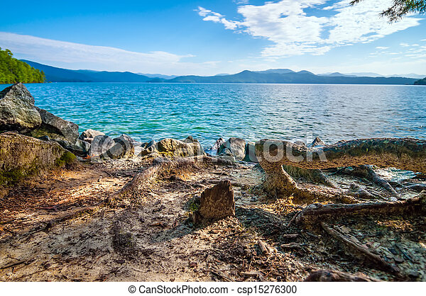 scenery around lake jocasse gorge - csp15276300