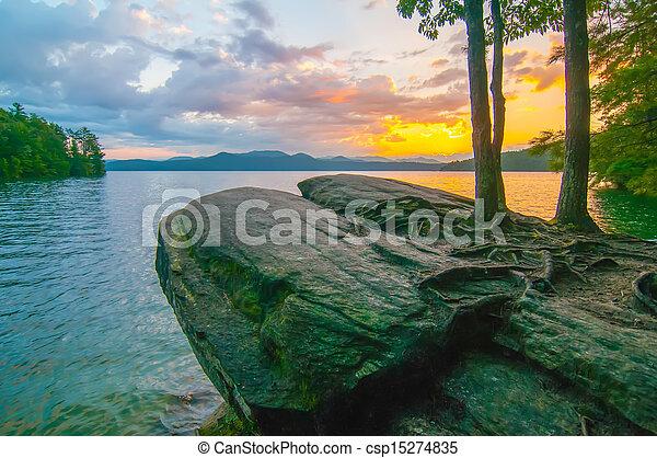 scenery around lake jocasse gorge - csp15274835