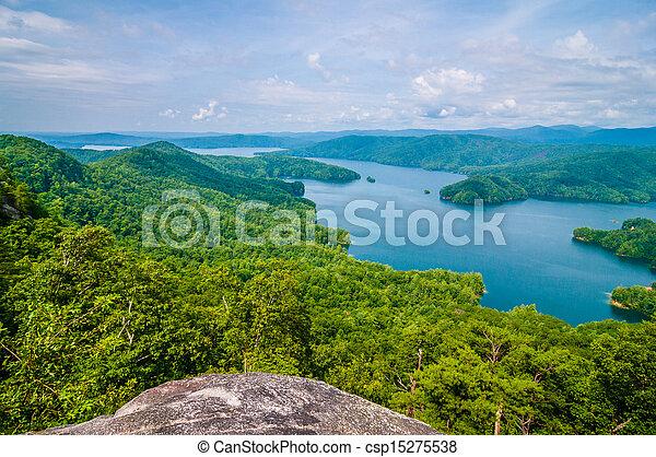 scenery around lake jocasse gorge - csp15275538
