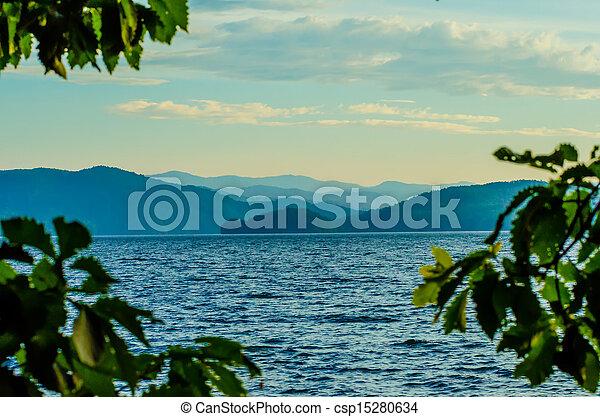scenery around lake jocasse gorge - csp15280634