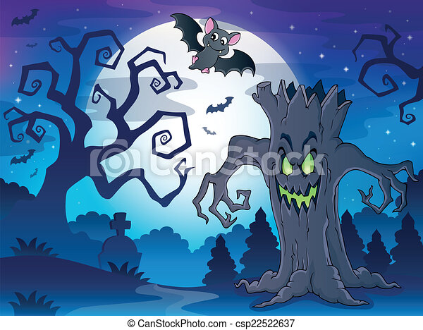 Scenery with Halloween thematics 1 - csp22522637