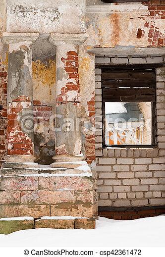 Scenic classical columns. Ruin. - csp42361472