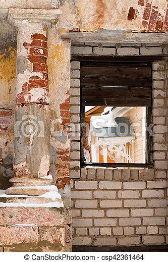 Scenic classical columns. Ruin. - csp42361464